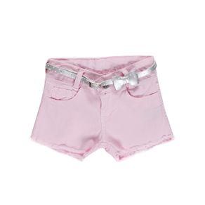 Short Sarja Infantil para Menina - Rosa 6