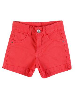 Short Sarja Juvenil para Menina - Coral
