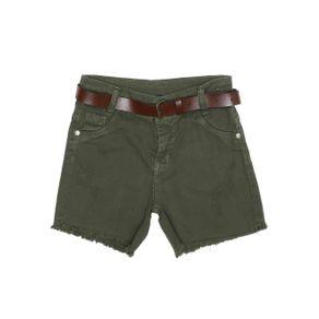 Short Sarja Juvenil para Menina - Verde 10