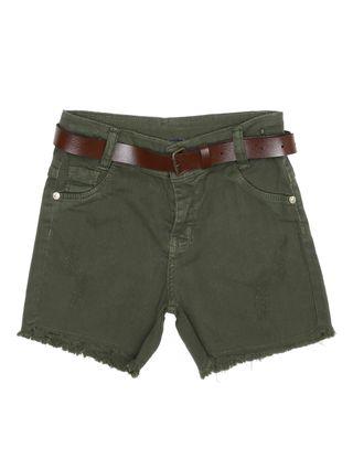 Short Sarja Juvenil para Menina - Verde