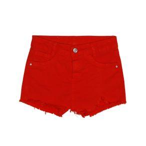 Short Sarja Juvenil para Menina - Vermelho 12