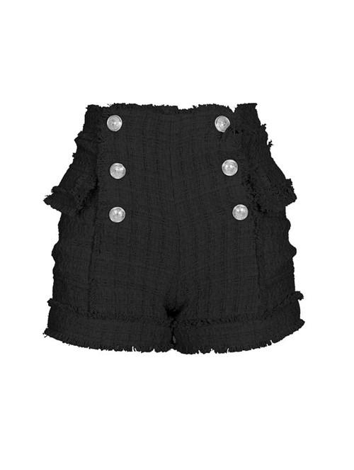 Shorts Botões Preto Tamanho 36