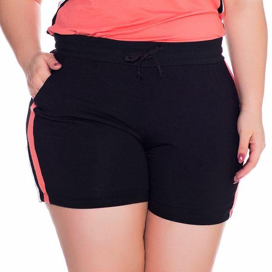 Shorts de Malha Plus Size Listra Lateral M