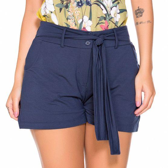 Shorts em Malha com Amarracao G