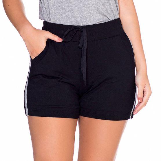 Shorts em Malha com Listra Lateral G