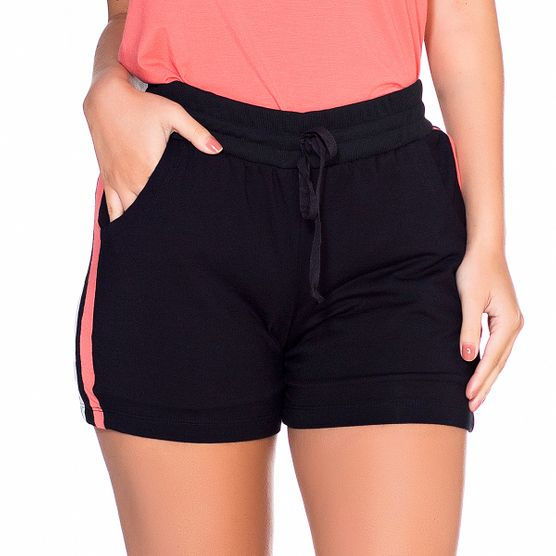 Shorts em Malha com Listra Lateral P
