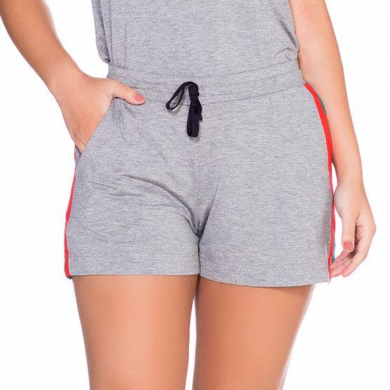 Shorts em Malha com Recorte Lateral G