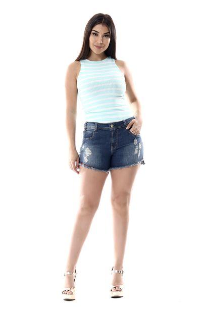 Shorts Jeans Feminino - 255963 36