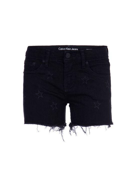Shorts Jeans Five Pockets Estrelas - 4