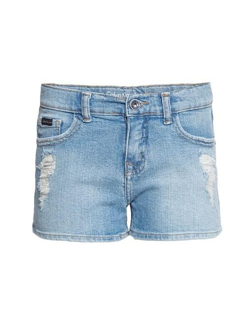 Shorts Jeans Infantil Calvin Klein Jeans Five Pockets Azul Claro - 2
