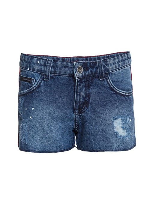 Shorts Jeans Infantil Calvin Klein Jeans Five Pockets Azul Médio - 2