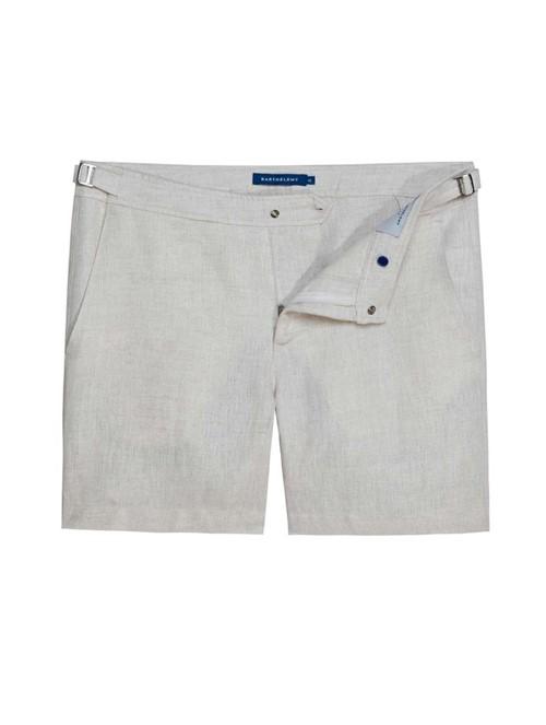 Shorts Lorient de Linho Nude Tamanho 36