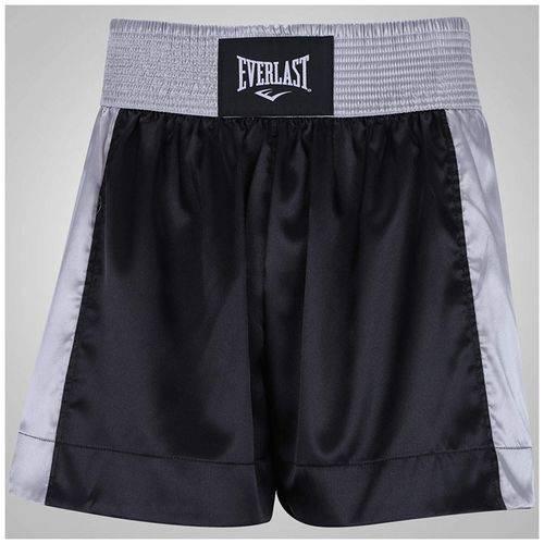 Shorts Muay Thai Preto com Prata ET20121B Everlast
