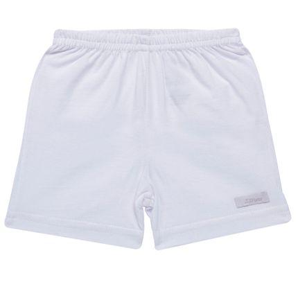 Shorts para Bebe em Malha Branco - Tilly Baby
