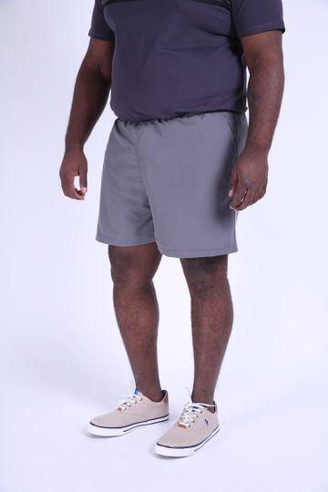 Shorts Plus Size Tactel Cinza P