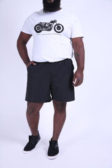 Shorts Plus Size Tactel Preto EX