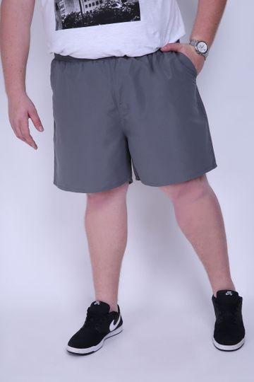 Shorts Plus Tactel com Sunga Cinza Chumbo M