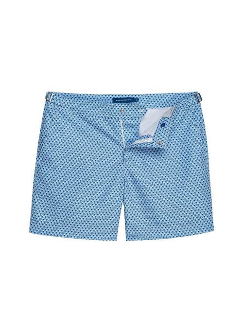 Shorts Saline Eden Estampado Azul e Branco Tamanho 36
