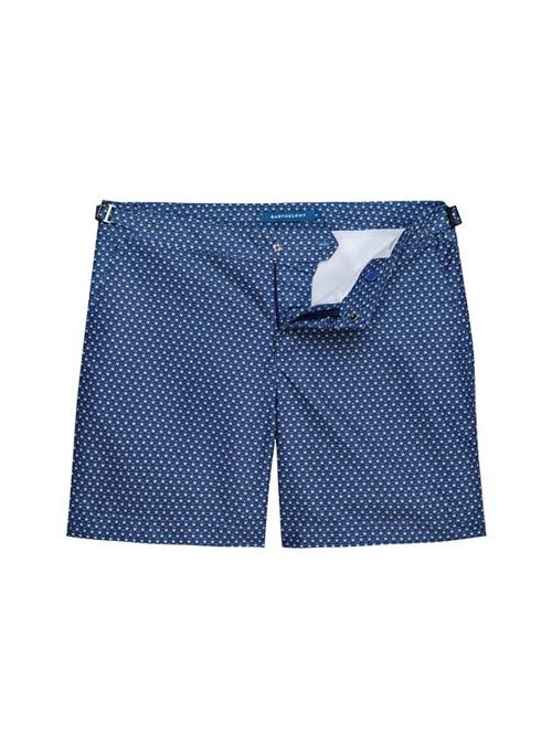 Shorts Saline Eden Estampado Azul Marinho Tamanho 36