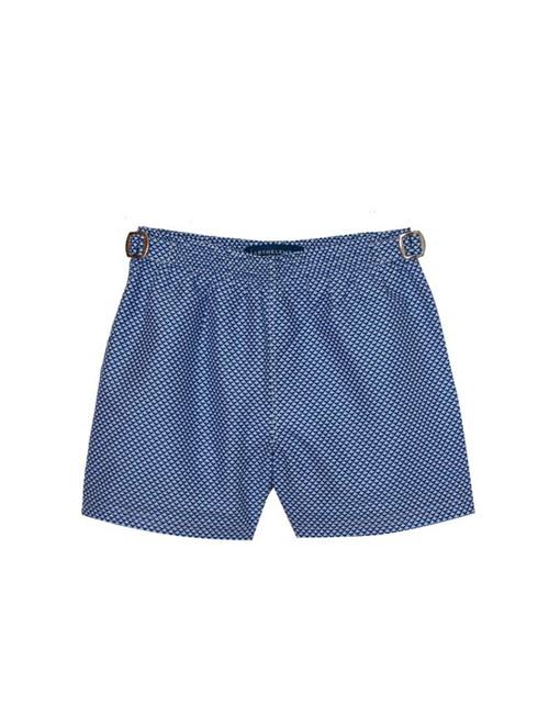 Shorts Saline Estampado Azul Marinho Tamanho 1