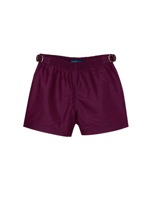 Shorts Shine Estampado Vinho Tamanho 1