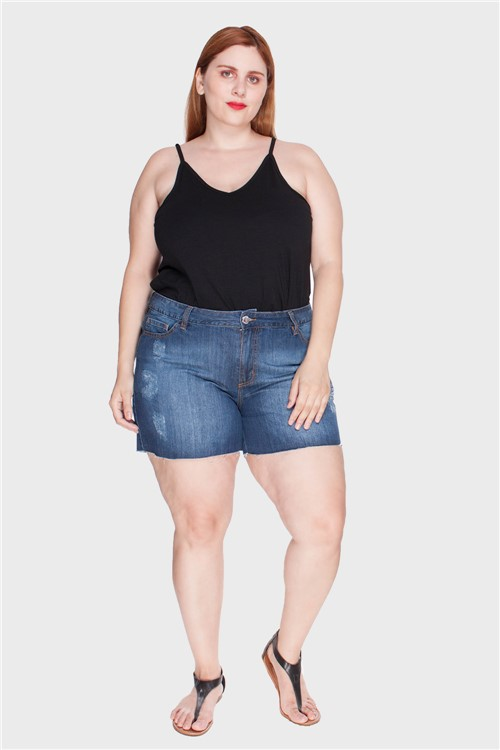 Shorts Stone Plus Size Azul-46