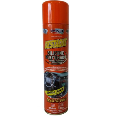 Silicone Spray Perfumado Tradicional 400ml Brilho Seco Centralsul