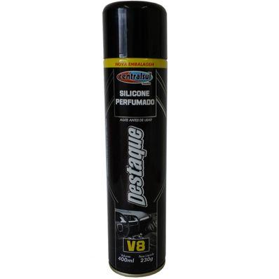 Silicone Spray Perfumado V8 400ml Brilho Seco Centralsul