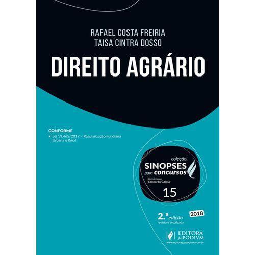 Sinopses para Concursos Direito Agrario Vol 15 - Juspodivm