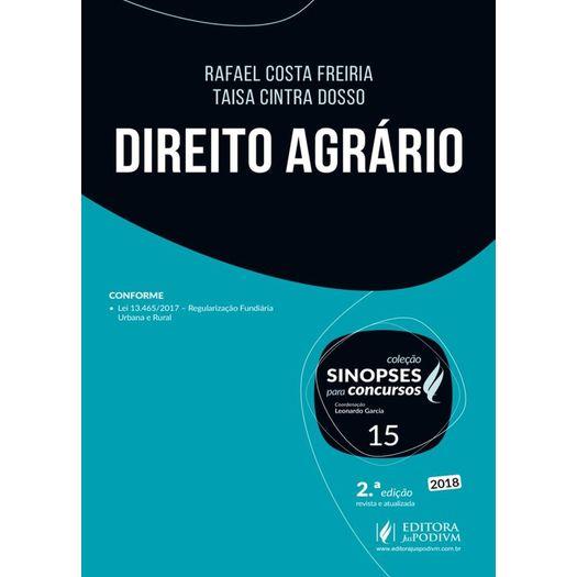 Sinopses para Concursos - Vol 15 - Direito Agrario - Juspodivm