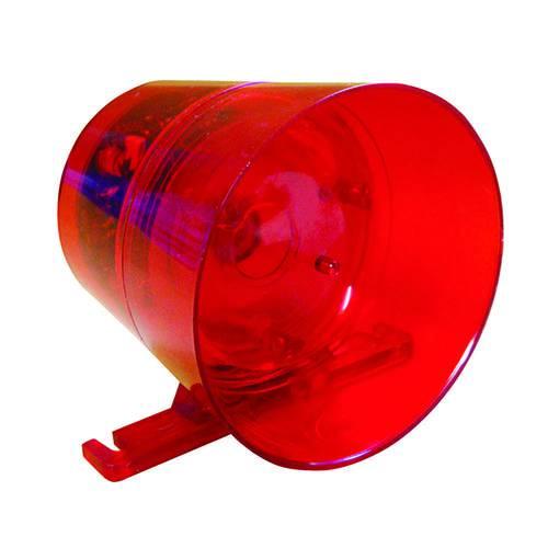 Sirene Ipec Audiovisual Led Vermelha 12/24 Volts