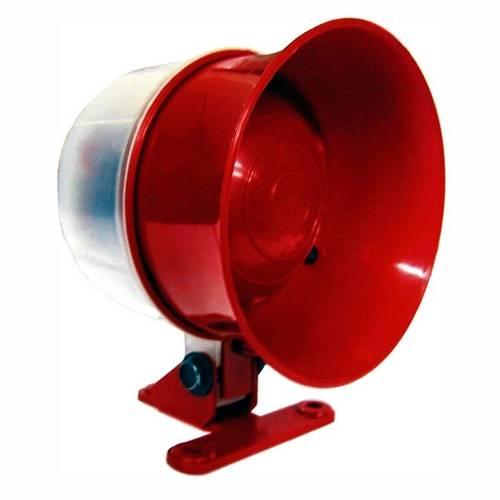 Sirene para Monitoramento e Incêndio - 12/24v - Dni 4325