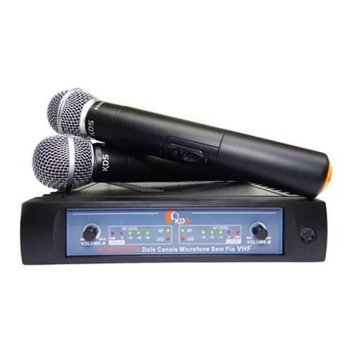 Sistema Microfone Vocal Duplo Sem Fio Vhf Kdsw 312m - Kadosh