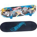 Skate Hot Wheels Fun com Acessórios de Segurança - Azul