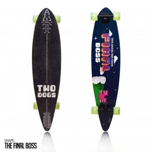 Skate Long Board Twodogs Flying D3 Abec 11