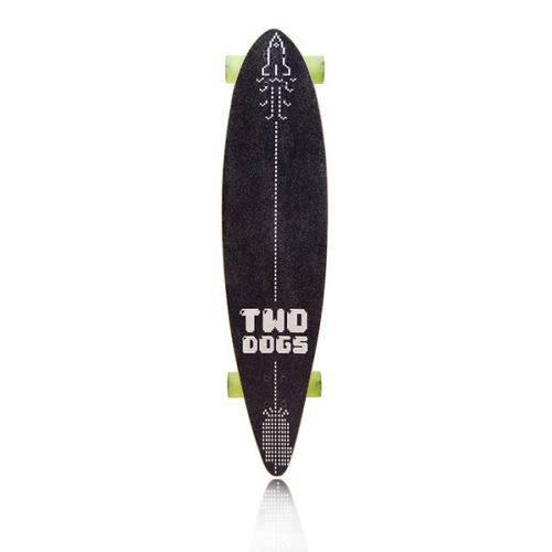 Skate Longboard Two Dogs Flying D3