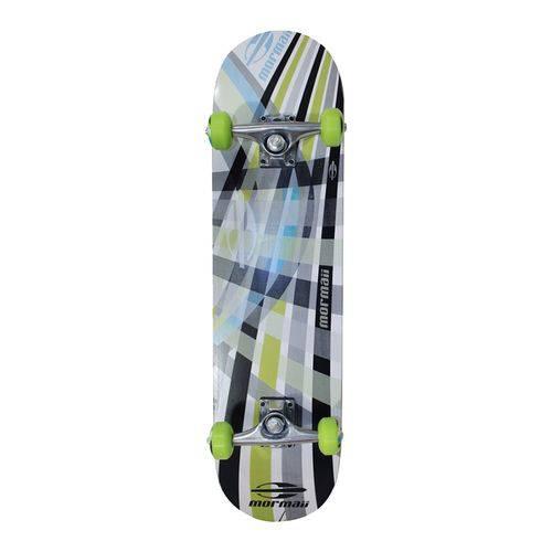 Skate Skateboard Mormaii Chill Abec 5 Verde e Cinza