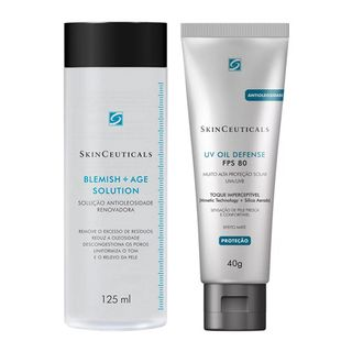 Skinceuticals Blemish Age + UV Oil Defense Kit - Tônico Facial + Protetor Solar FPS 80 Kit