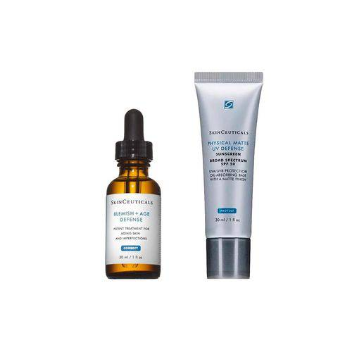 Skinceuticals Kit Blemish+ Age Defense 30ml + Physical Matte UV Defense FPS50 30ml