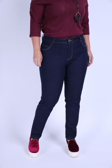 Skinny Blue Plus Size Jeans Blue 46