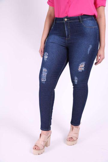 Calça Jeans Skinny Puida Plus Size 46