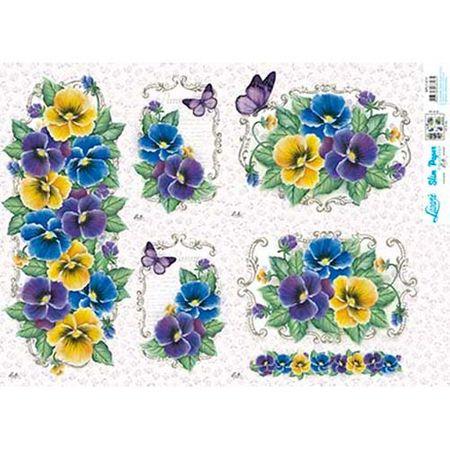 Slim Paper Decoupage Lili Negrão 33,8 X 47,3 Cm - SPL1-011 Amor-Perfeito