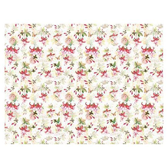 Slim Paper Decoupage Litoarte 47,3x33,8 SPL-022 Flores Brincos de Princesas