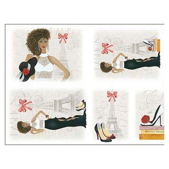 Slim Paper Decoupage Litoarte 47,3x33,8 SPL-009 Mulher Paris