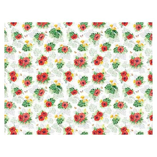 Slim Paper Decoupage Litoarte 47,3x33,8 SPL-021 Tropical Hibiscos
