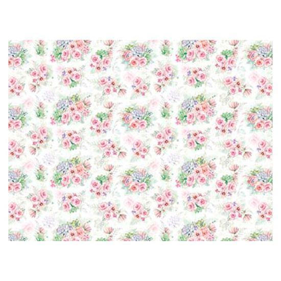 Slim Paper Decoupage Litoarte 47,3x33,8 SPL-011 Rosas e Suculentas Aquareladas
