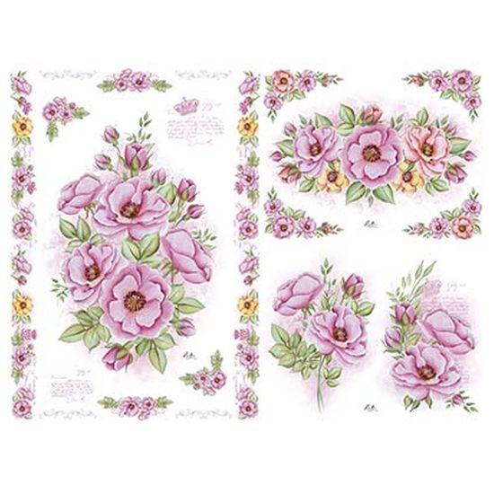 Slim Paper Decoupage Litoarte 47,3x33,8 SPL1-003 Rosa Silvestre