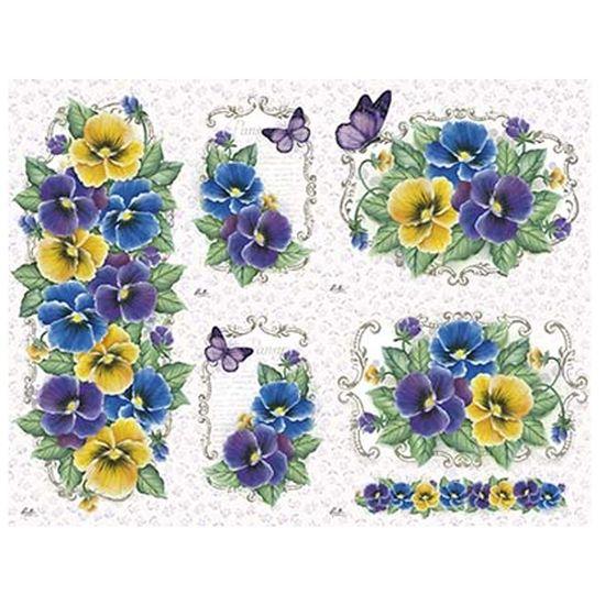 Slim Paper Decoupage Litoarte 47,3x33,8 SPL1-011 Amor Perfeito