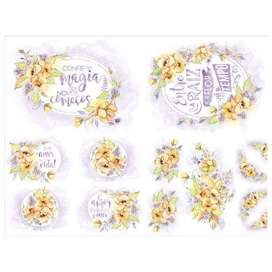 Slim Paper Decoupage Litoarte 47,3x33,8 SPL1-014 Amor Perfeito