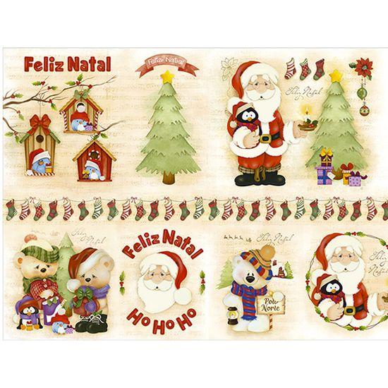 Slim Paper Decoupage Natal Litoarte 47,3x33,8 SPLN-002 Papai Noel
